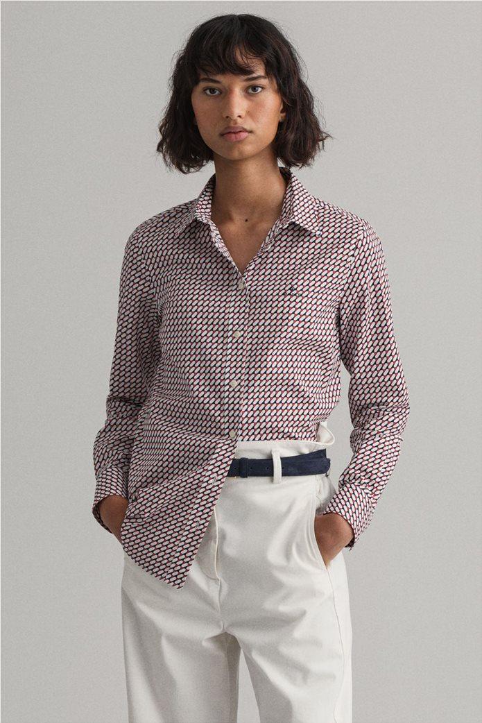 "Gant γυναικείο πουκάμισο με γεωμετρικό print ""Stretch Broadcloth"" 0"