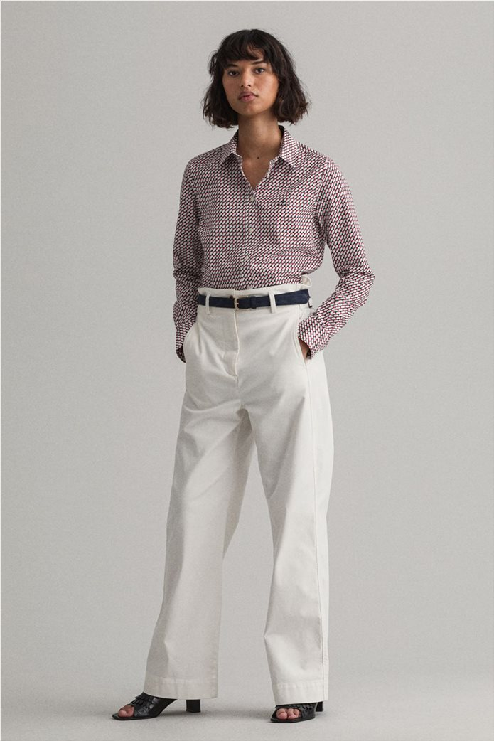 "Gant γυναικείο πουκάμισο με γεωμετρικό print ""Stretch Broadcloth"" 1"