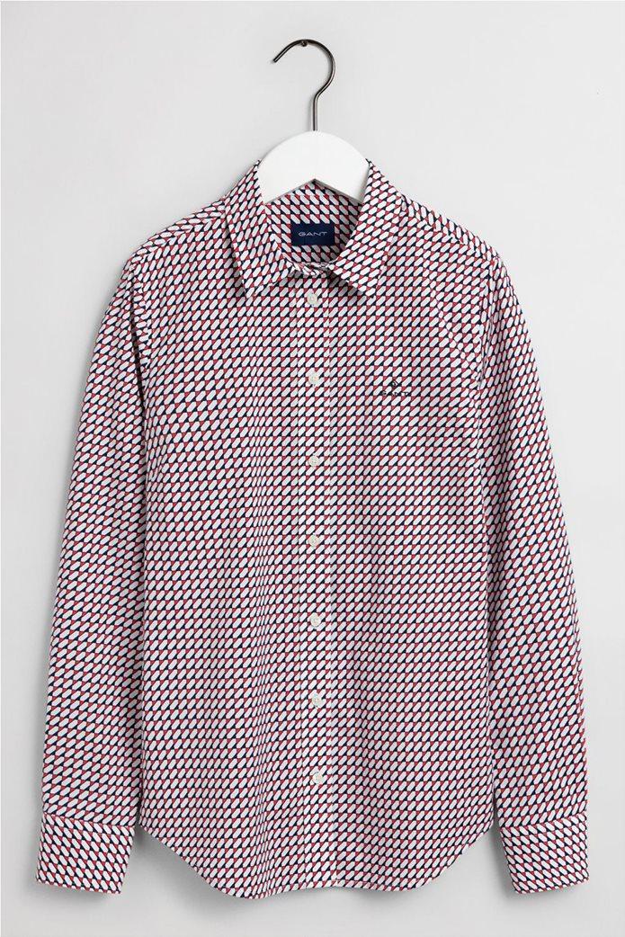 "Gant γυναικείο πουκάμισο με γεωμετρικό print ""Stretch Broadcloth"" 6"