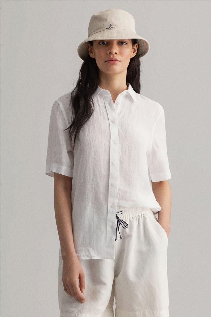 "Gant γυναικείο λινό πουκάμισο μονόχρωμο ""Chambray"" 0"