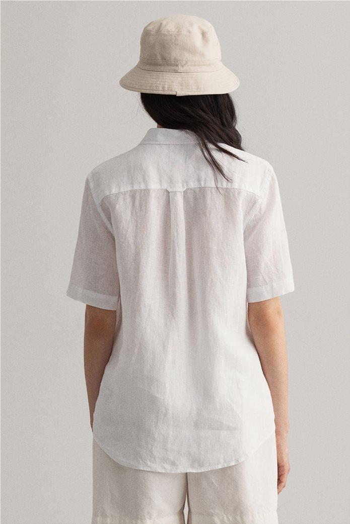 "Gant γυναικείο λινό πουκάμισο μονόχρωμο ""Chambray"" 1"