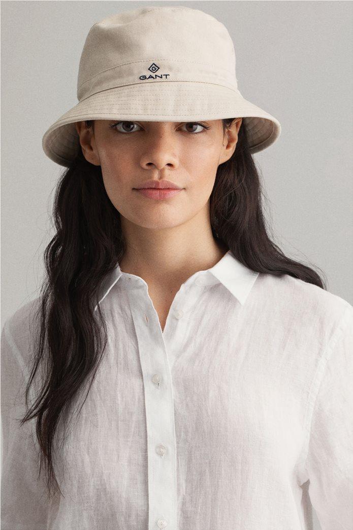 "Gant γυναικείο λινό πουκάμισο μονόχρωμο ""Chambray"" 2"