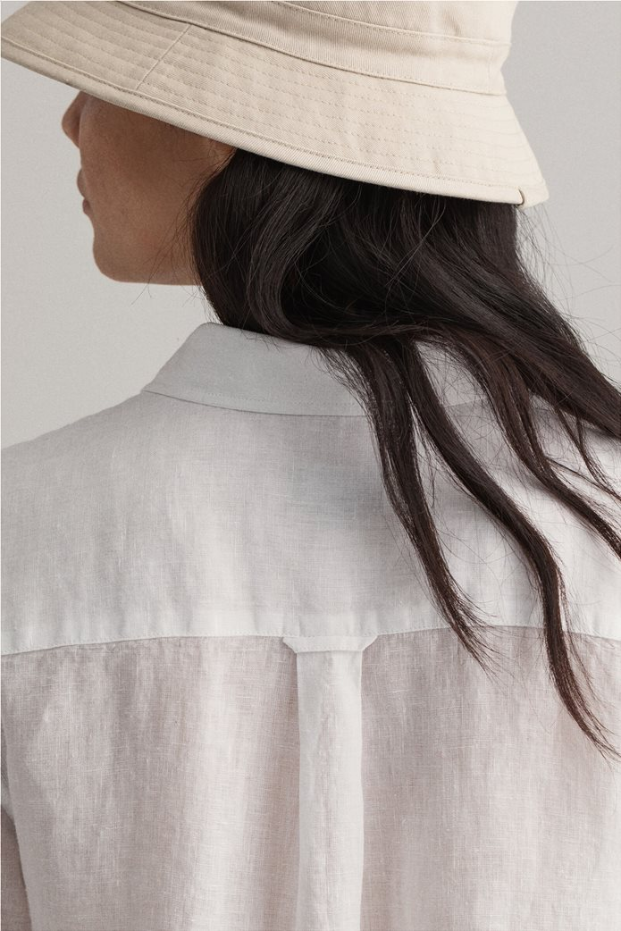 "Gant γυναικείο λινό πουκάμισο μονόχρωμο ""Chambray"" 3"
