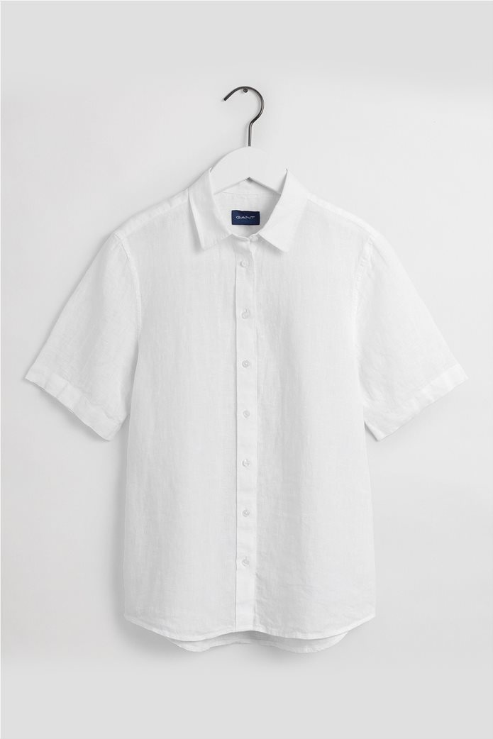 "Gant γυναικείο λινό πουκάμισο μονόχρωμο ""Chambray"" 5"
