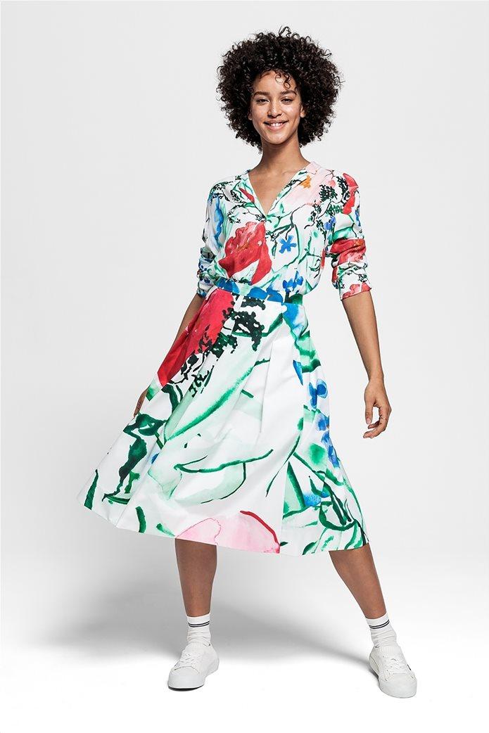 Gant γυναικεία midi φούστα με πιέτες floral 0