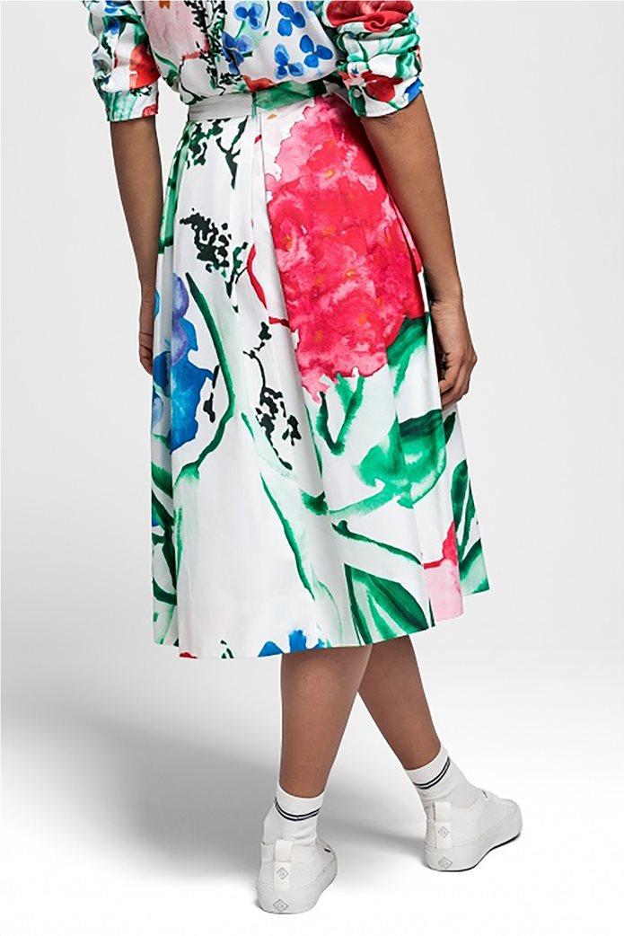Gant γυναικεία midi φούστα με πιέτες floral 1