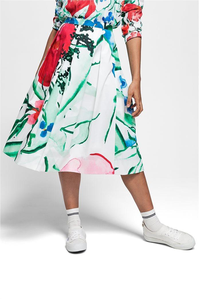 Gant γυναικεία midi φούστα με πιέτες floral 3