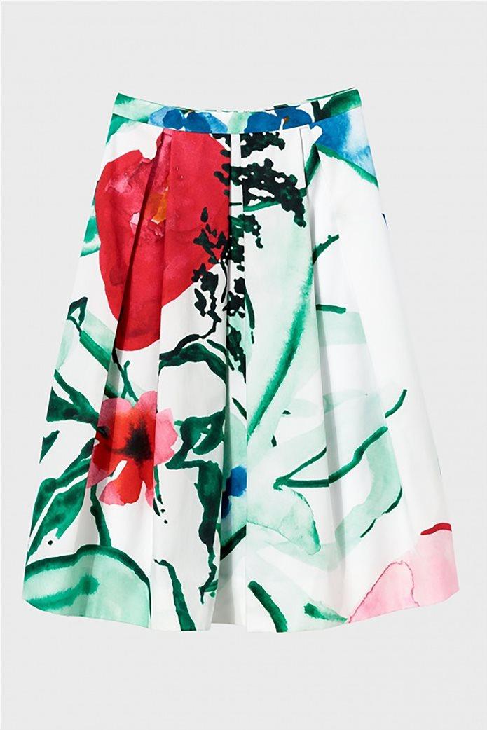 Gant γυναικεία midi φούστα με πιέτες floral 4
