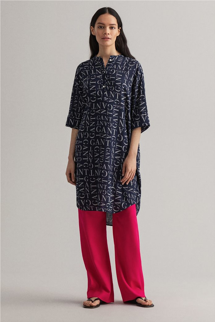 Gant γυναικεία τουνίκ με all-over letter print Relaxed Fit 0