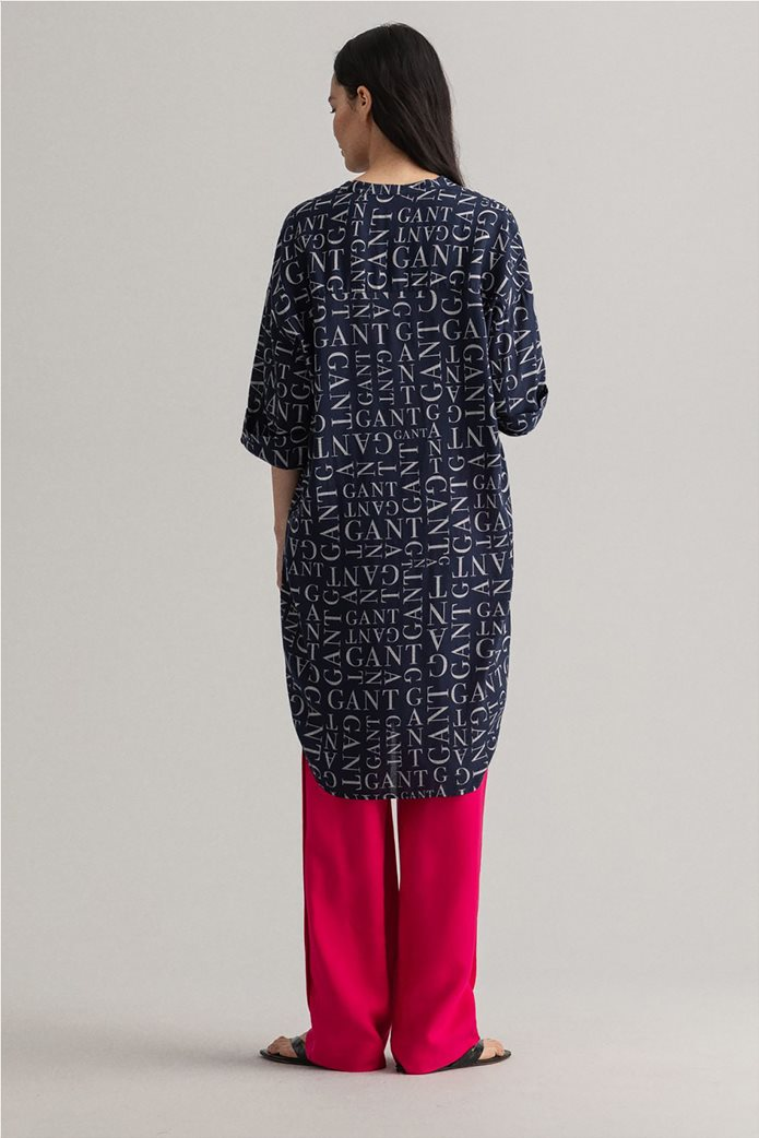 Gant γυναικεία τουνίκ με all-over letter print Relaxed Fit 3
