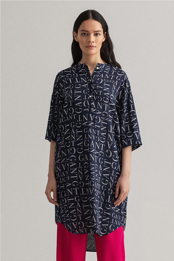 Gant γυναικεία τουνίκ με all-over letter print Relaxed Fit 4