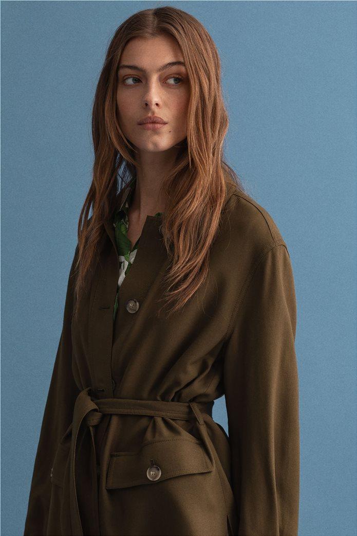 Gant γυναικείο utility jacket με ζώνη στη μέση ''Fluid'' 2