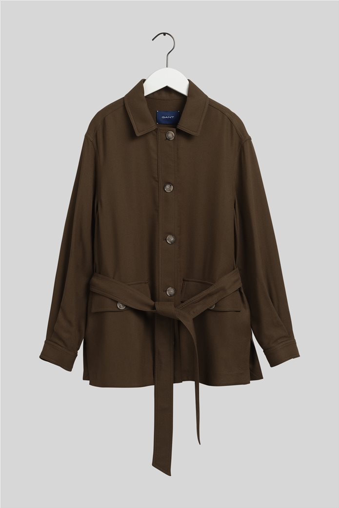 Gant γυναικείο utility jacket με ζώνη στη μέση ''Fluid'' 4