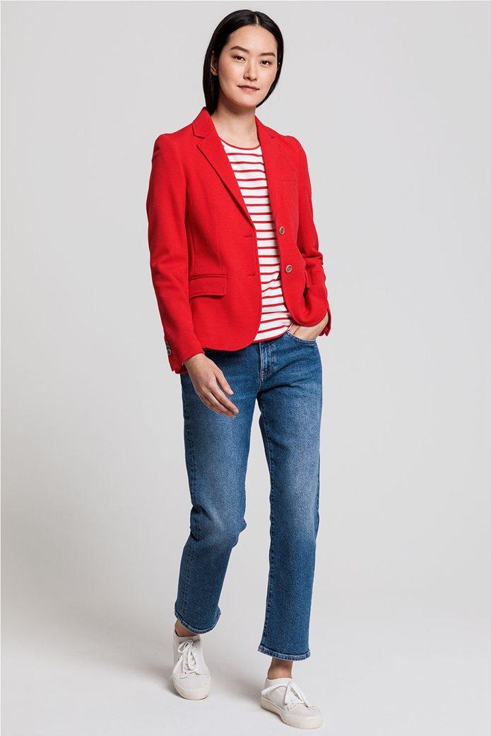 Gant γυναικείο σακάκι μονόχρωμο πικέ Slim Fit 3