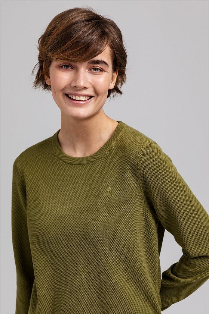 Gant γυναικεία πικέ μπλούζα μονόχρωμη 1