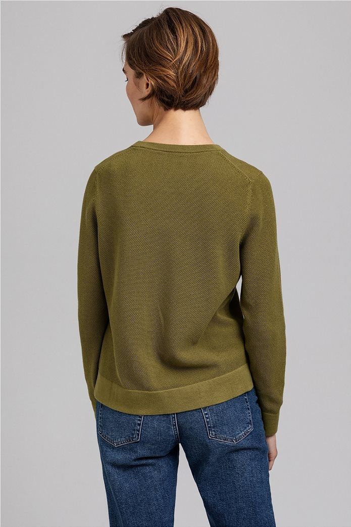 Gant γυναικεία πικέ μπλούζα μονόχρωμη 2