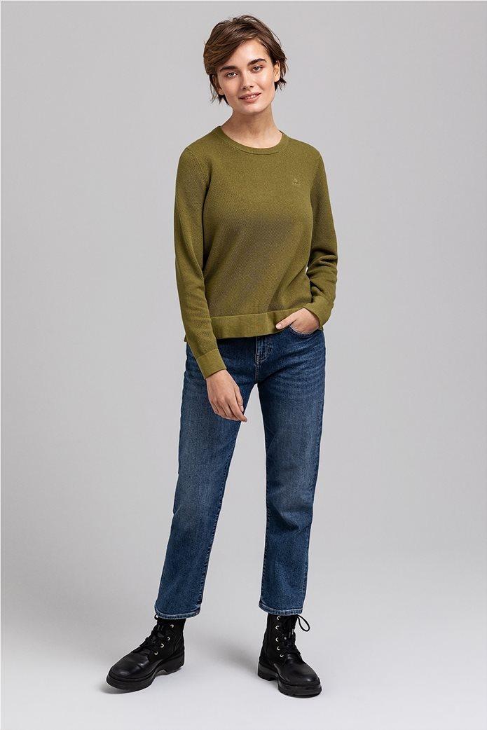 Gant γυναικεία πικέ μπλούζα μονόχρωμη 3
