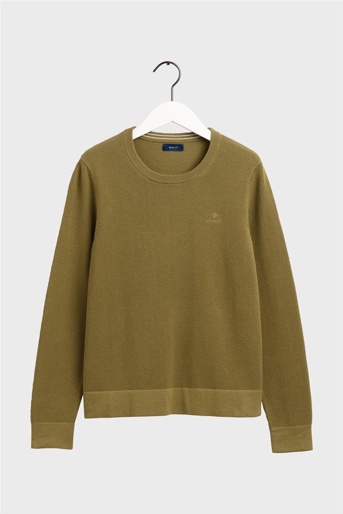 Gant γυναικεία πικέ μπλούζα μονόχρωμη 4