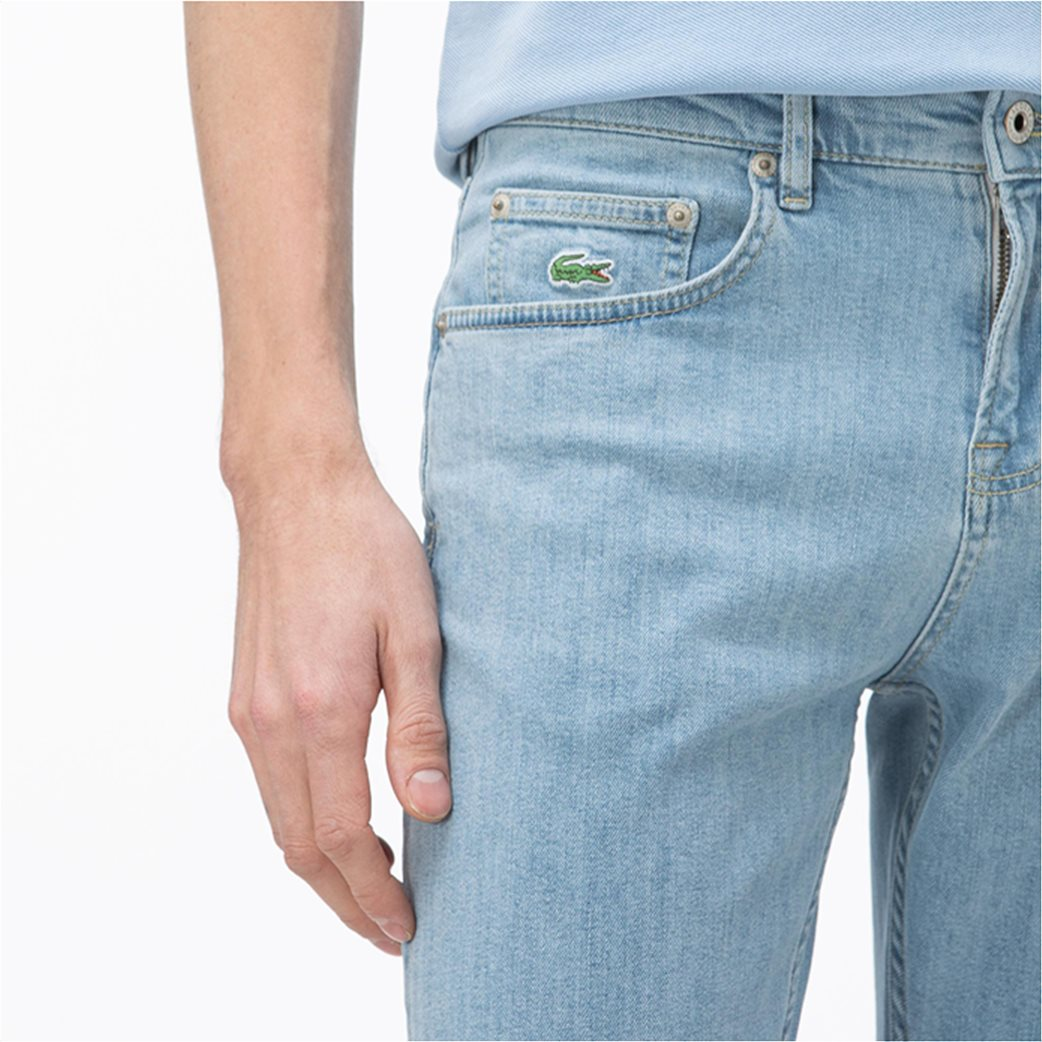 Lacoste ανδρικό τζην παντελόνι ελαστικό Slim fit 2
