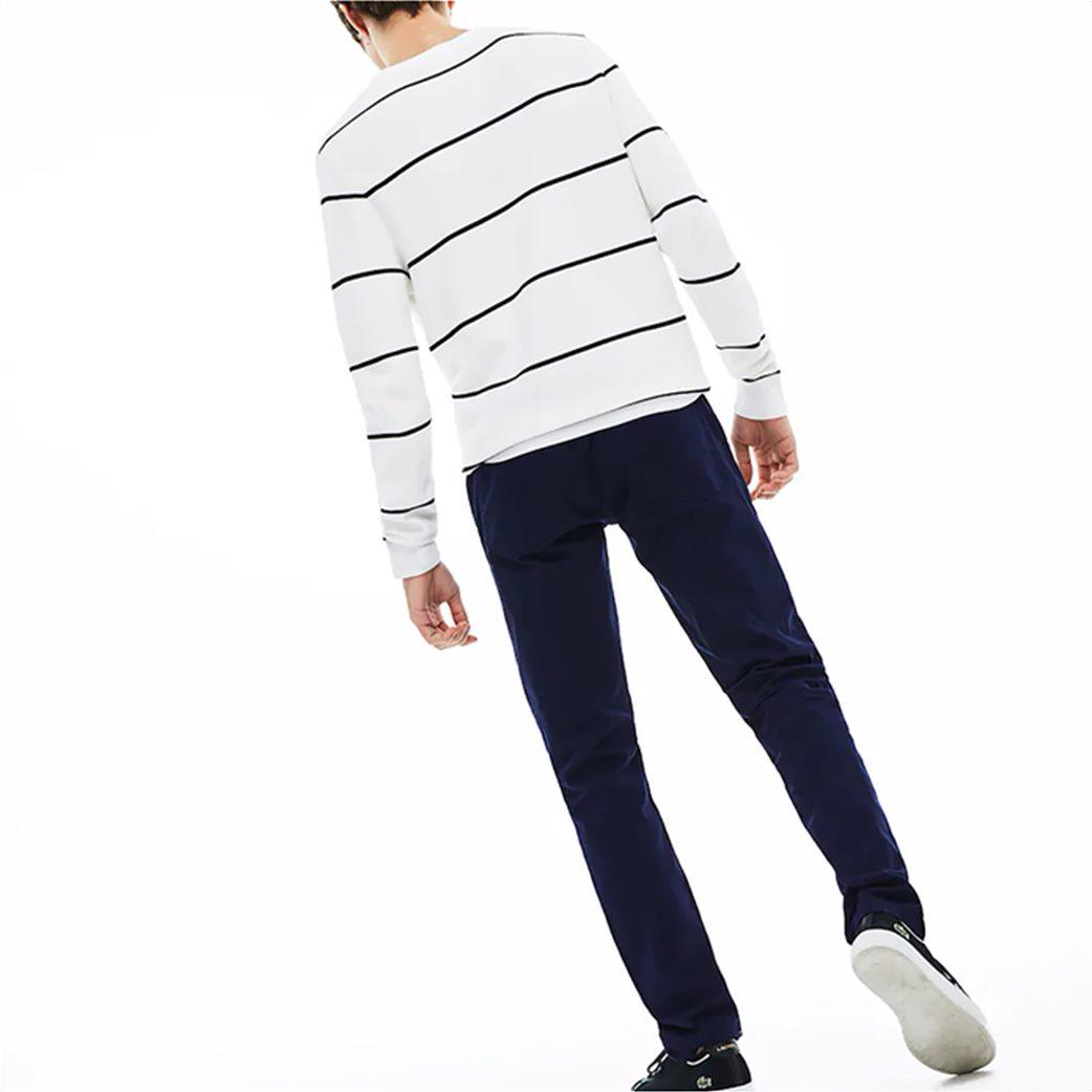 Lacoste ανδρικό παντελόνι πεντάτσεπο Slim fit Μπλε Σκούρο 1