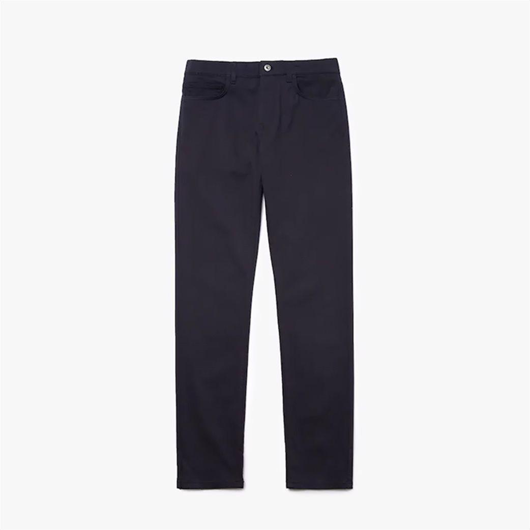 Lacoste ανδρικό παντελόνι πεντάτσεπο Slim fit Μπλε Σκούρο 3