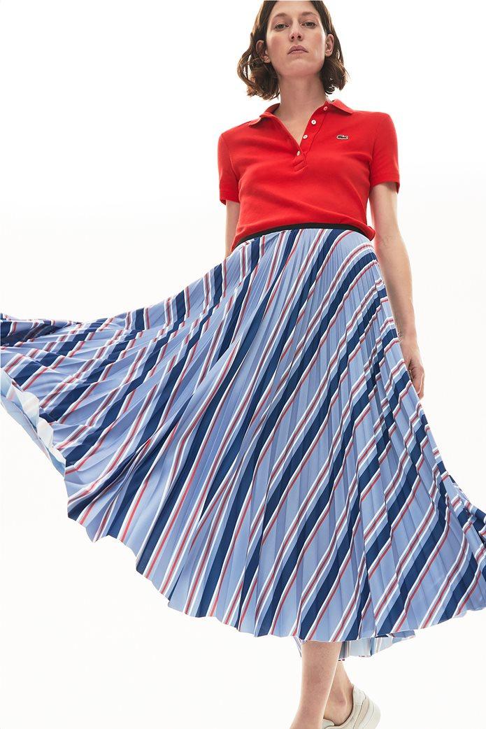 "Lacoste γυναικεία midi φούστα πλισέ ""Multicolour Striped"" Γαλάζιο 0"
