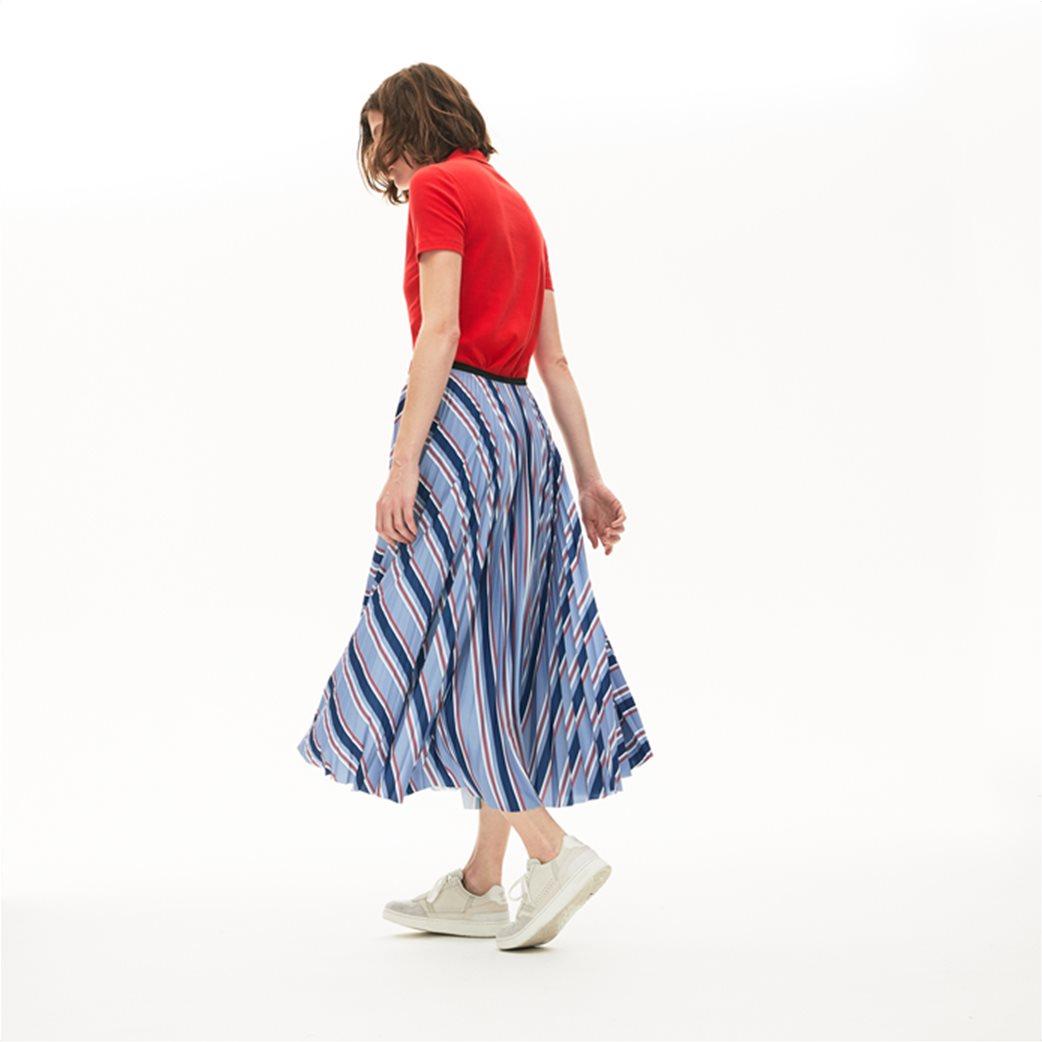 "Lacoste γυναικεία midi φούστα πλισέ ""Multicolour Striped"" Γαλάζιο 1"