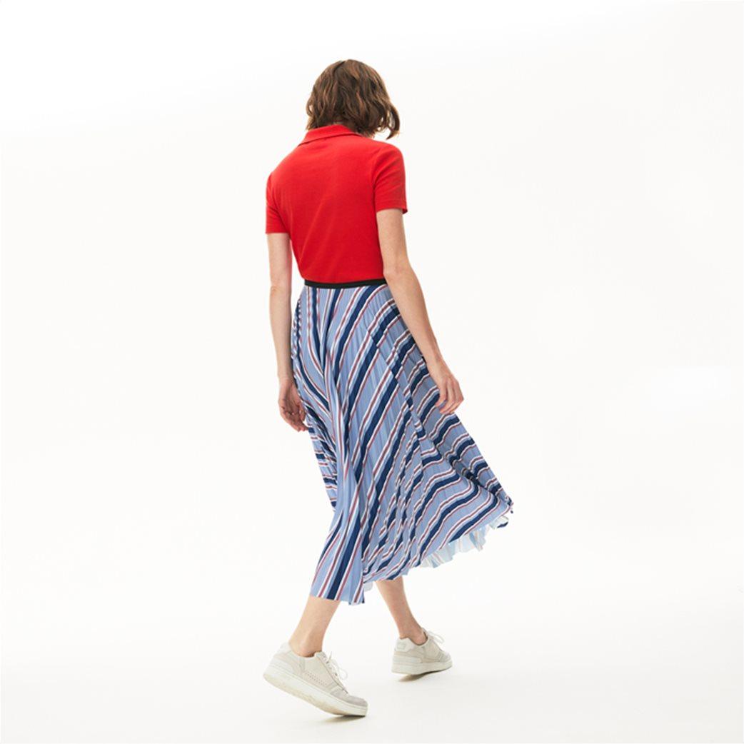 "Lacoste γυναικεία midi φούστα πλισέ ""Multicolour Striped"" Γαλάζιο 2"