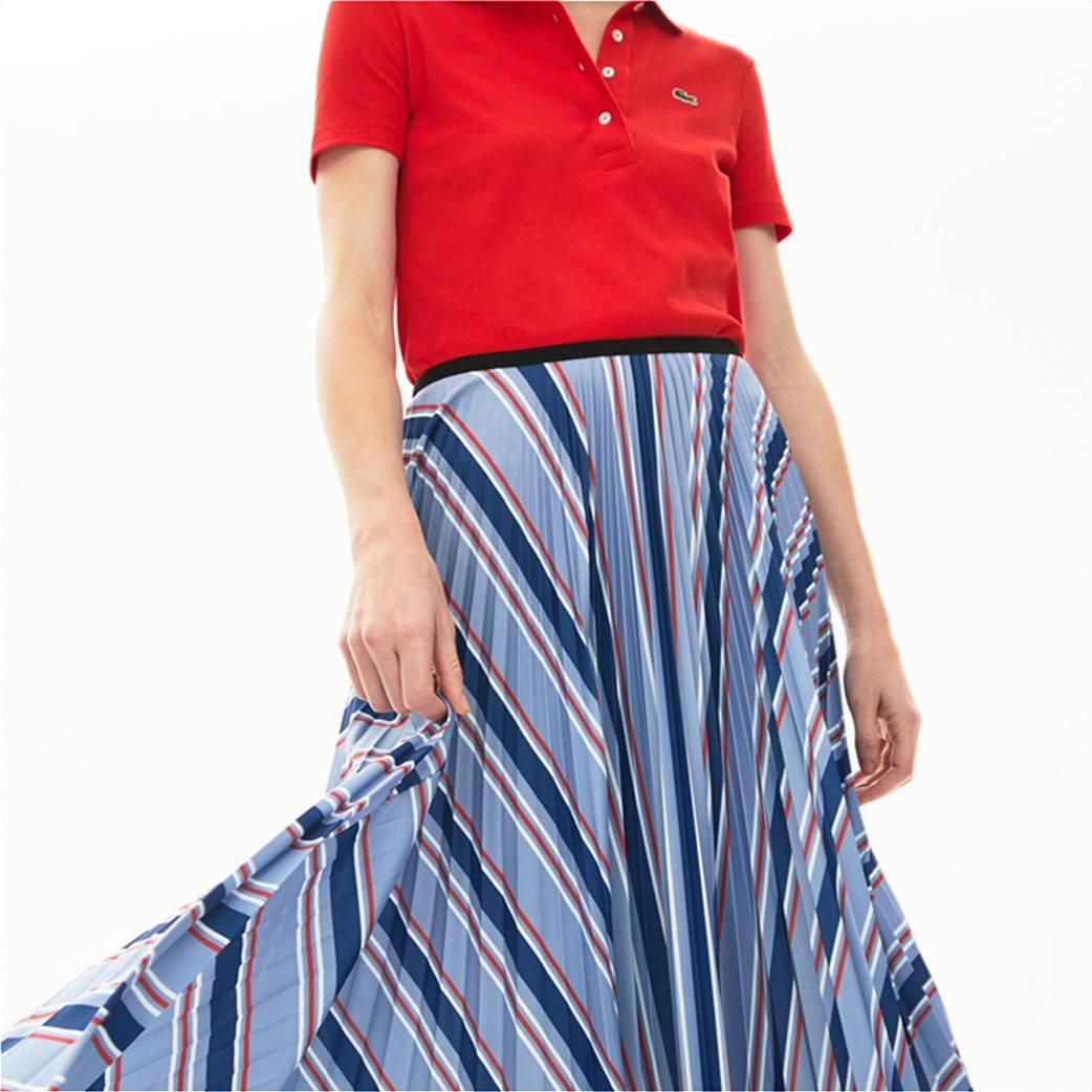 "Lacoste γυναικεία midi φούστα πλισέ ""Multicolour Striped"" Γαλάζιο 3"