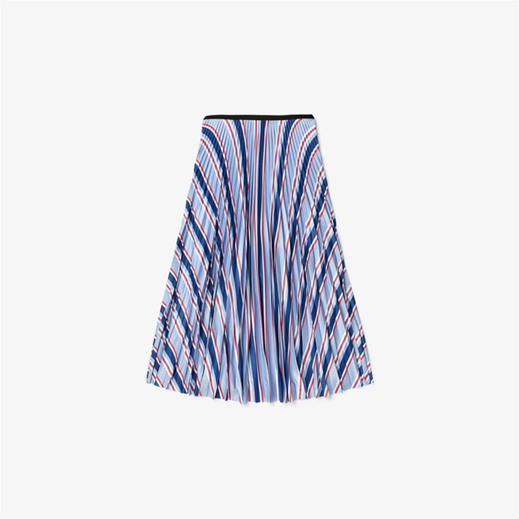"Lacoste γυναικεία midi φούστα πλισέ ""Multicolour Striped"" Γαλάζιο 4"