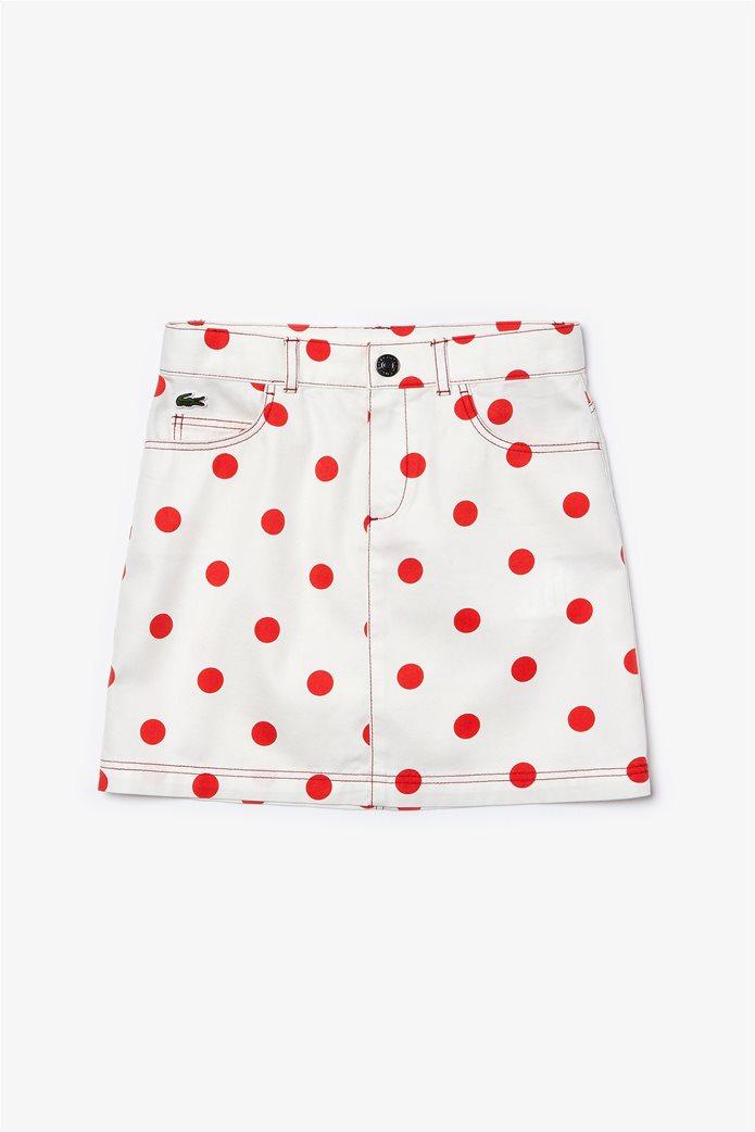 "Lacoste παιδική φούστα ""Polka Dot Print"" Λευκό 0"