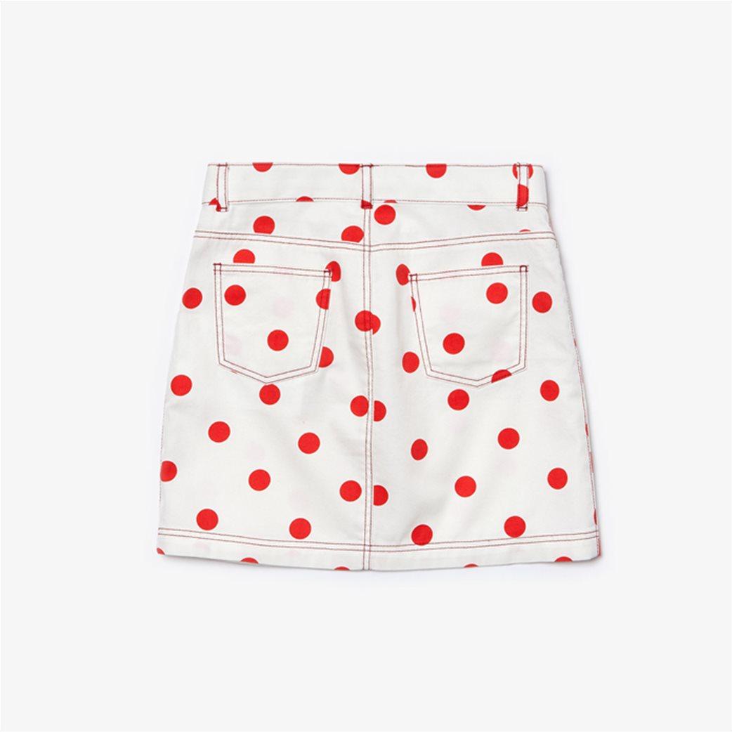 "Lacoste παιδική φούστα ""Polka Dot Print"" Λευκό 1"