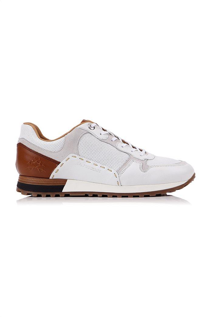 "La Martina ανδρικά δερμάτινα sneakers με κορδόνια ""Scarpa"" 0"