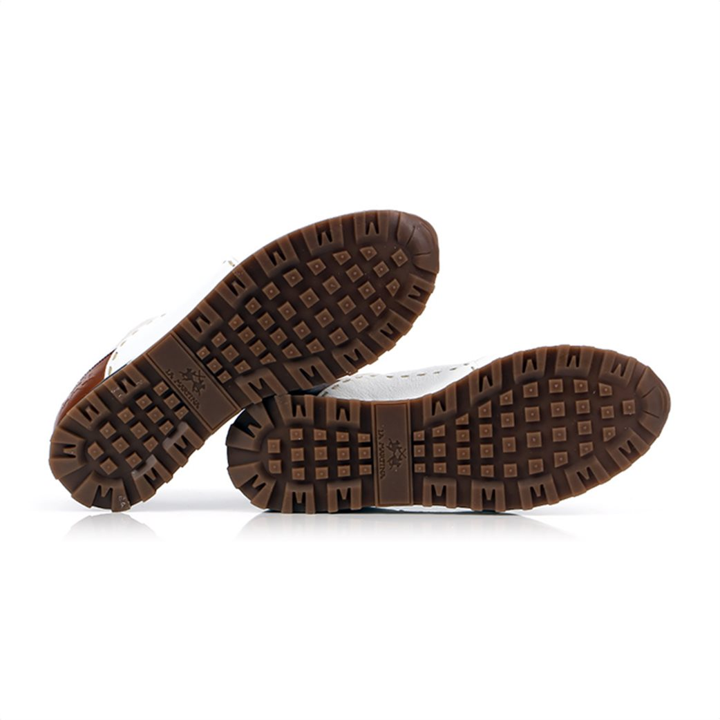 "La Martina ανδρικά δερμάτινα sneakers με κορδόνια ""Scarpa"" 3"