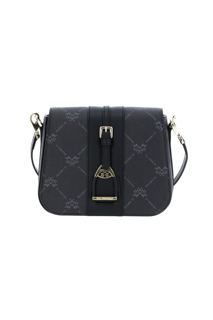 La Martina γυναικεία crossbody τσάντα με all-over logo print 0