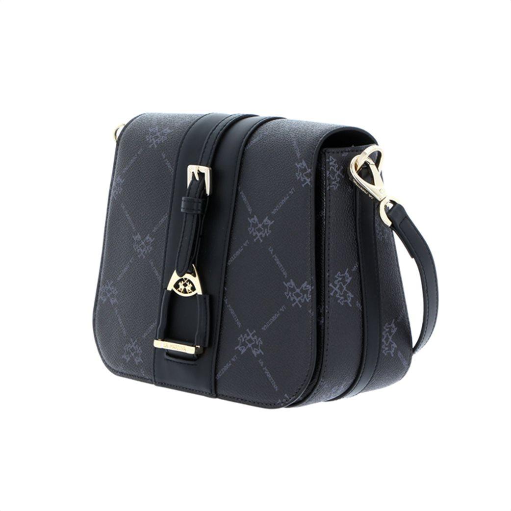 La Martina γυναικεία crossbody τσάντα με all-over logo print 1