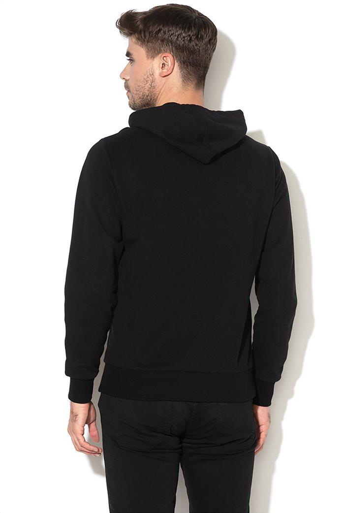 La Martina ανδρική φούτερ ζακέτα με  λογότυπο και κουκούλα Μαύρο 1