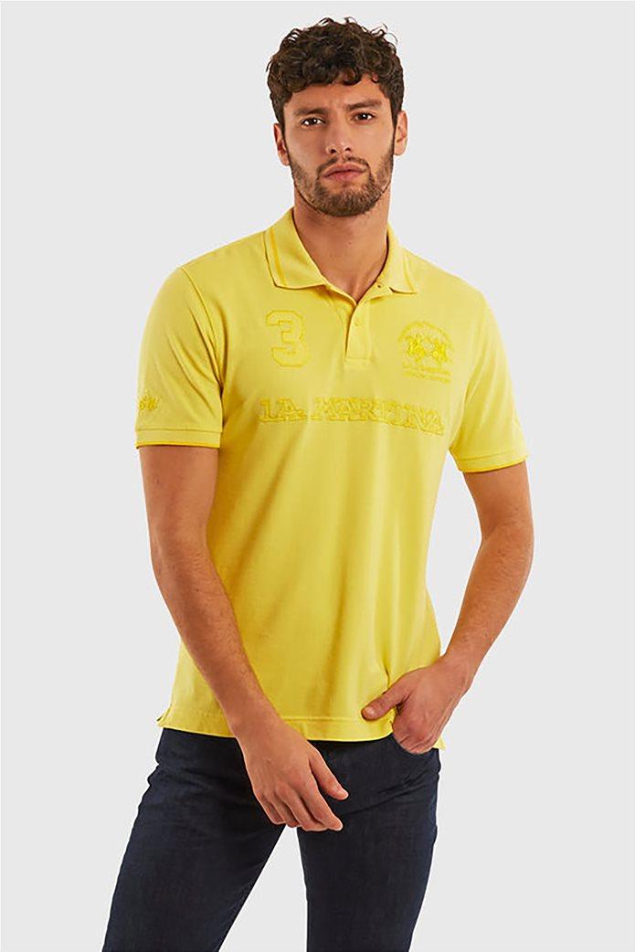 "La Martina ανδρική πόλο μπλούζα με κεντημένα logo ""Patric"" 0"
