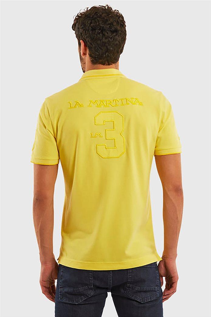 "La Martina ανδρική πόλο μπλούζα με κεντημένα logo ""Patric"" 1"
