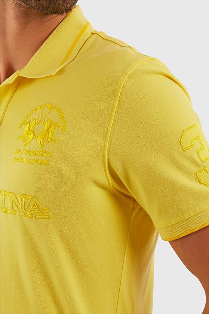 "La Martina ανδρική πόλο μπλούζα με κεντημένα logo ""Patric"" 3"