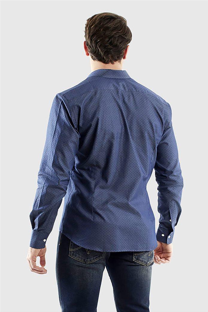 """La Martina ανδρικό πουκάμισο με μικροσχέδιο """"Quaron"""" Μπλε Σκούρο 2"""