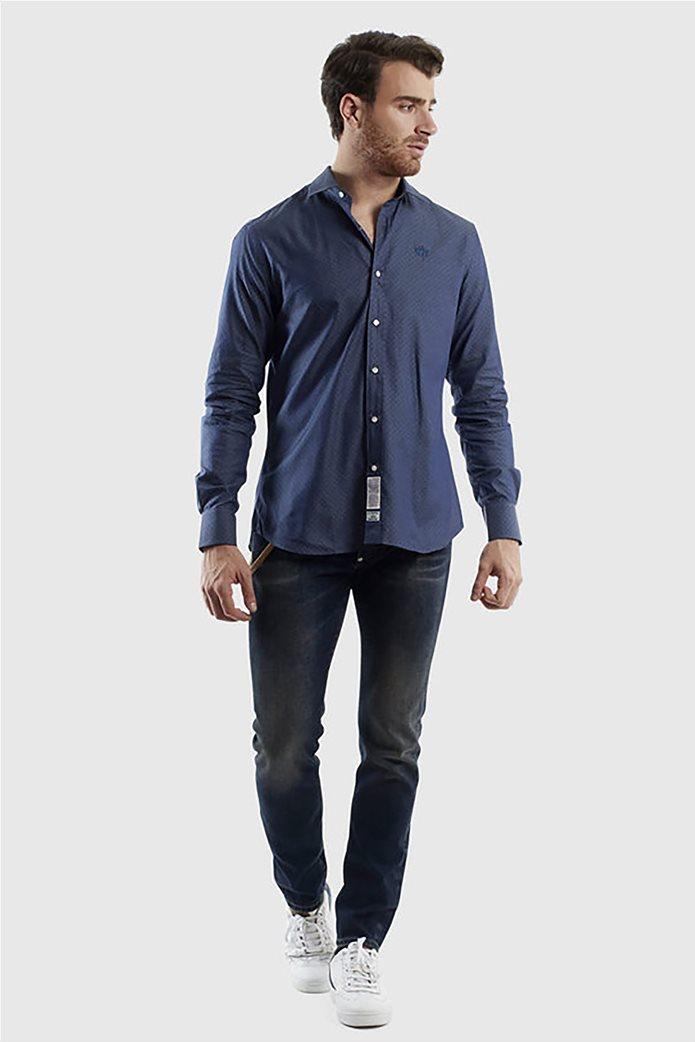 """La Martina ανδρικό πουκάμισο με μικροσχέδιο """"Quaron"""" Μπλε Σκούρο 3"""