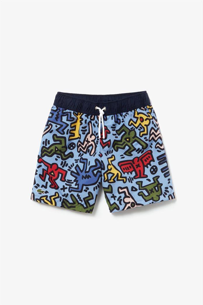 Lacoste παιδικό μαγιό Keith Haring Print 1