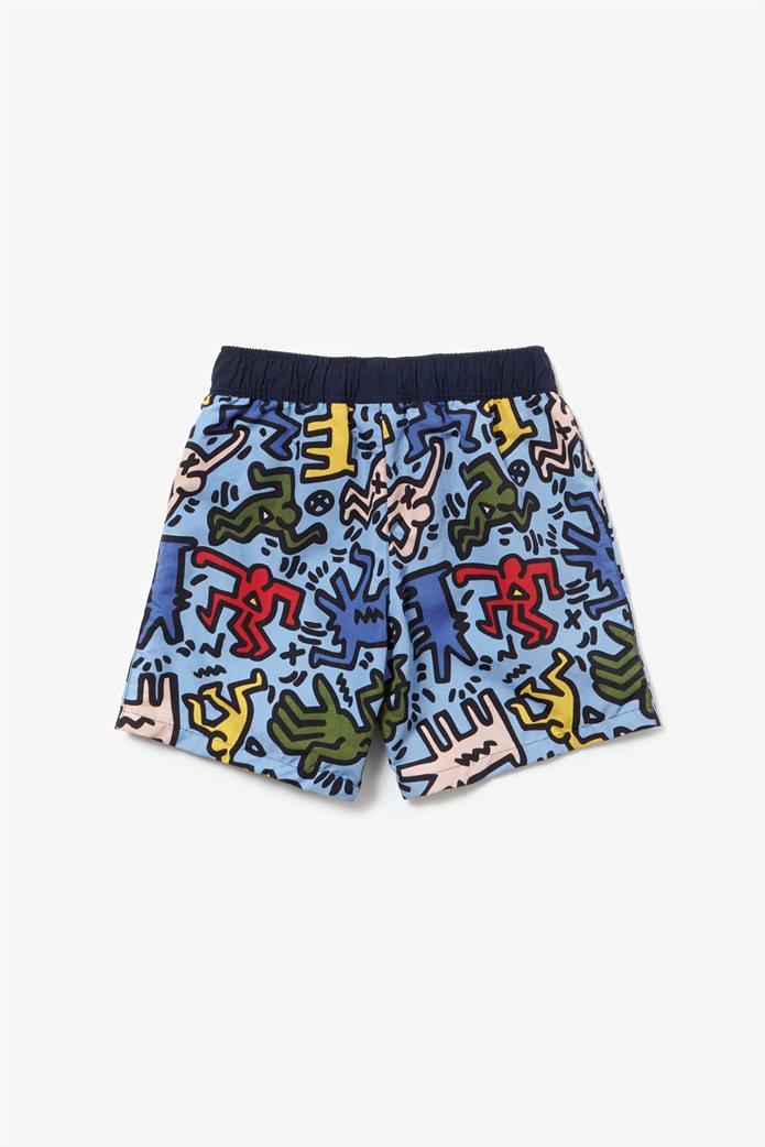 Lacoste παιδικό μαγιό Keith Haring Print 2