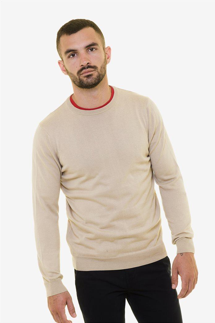 The Bostonians ανδρική πλεκτή μπλούζα με στρογγυλή λαιμόκοψη 0