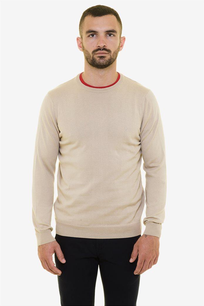 The Bostonians ανδρική πλεκτή μπλούζα με στρογγυλή λαιμόκοψη 1
