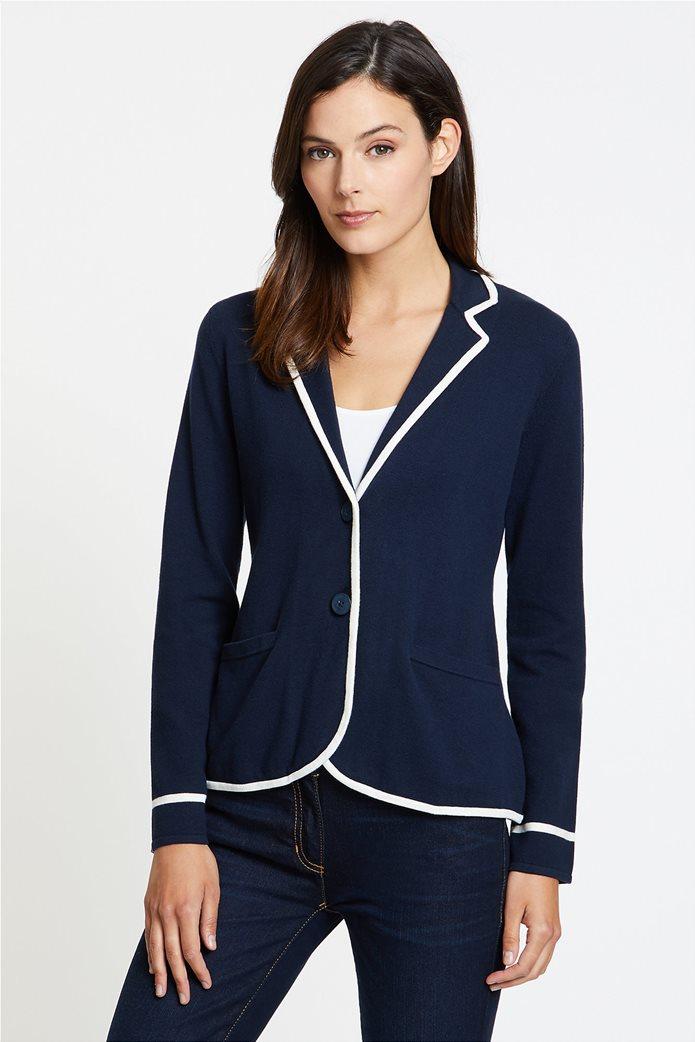 Nautica γυναικεία ζακέτα-σακάκι με ρίγα σε διαφορετικό χρώμα 0