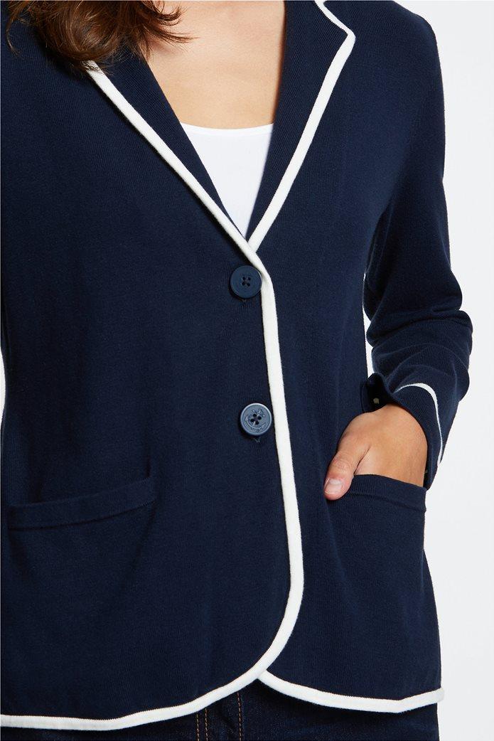 Nautica γυναικεία ζακέτα-σακάκι με ρίγα σε διαφορετικό χρώμα 1