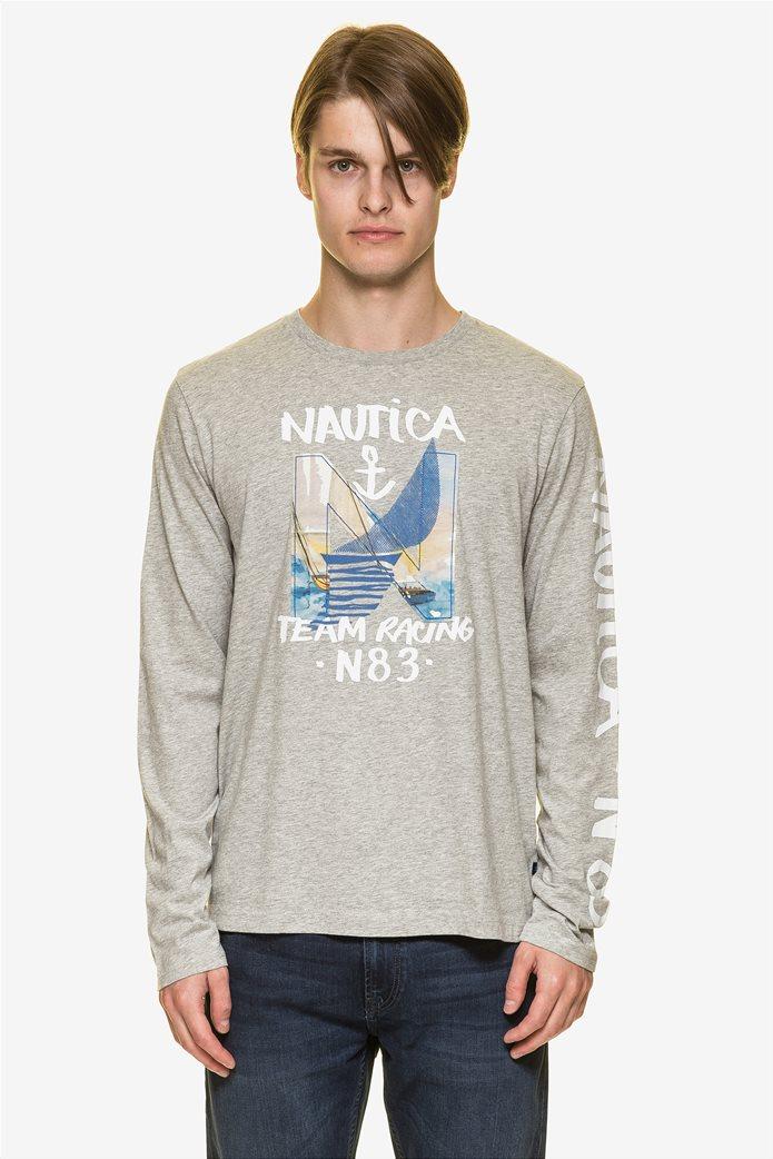 Nautica ανδρική μπλούζα μακρυμάνικη με prints 1