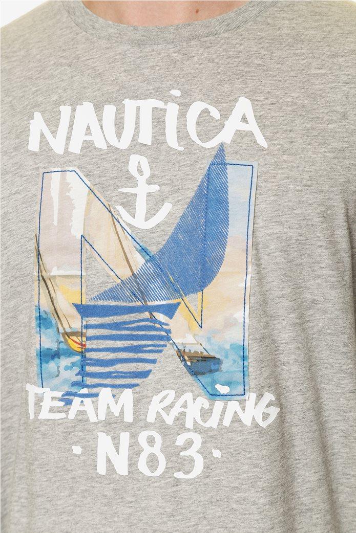 Nautica ανδρική μπλούζα μακρυμάνικη με prints 4